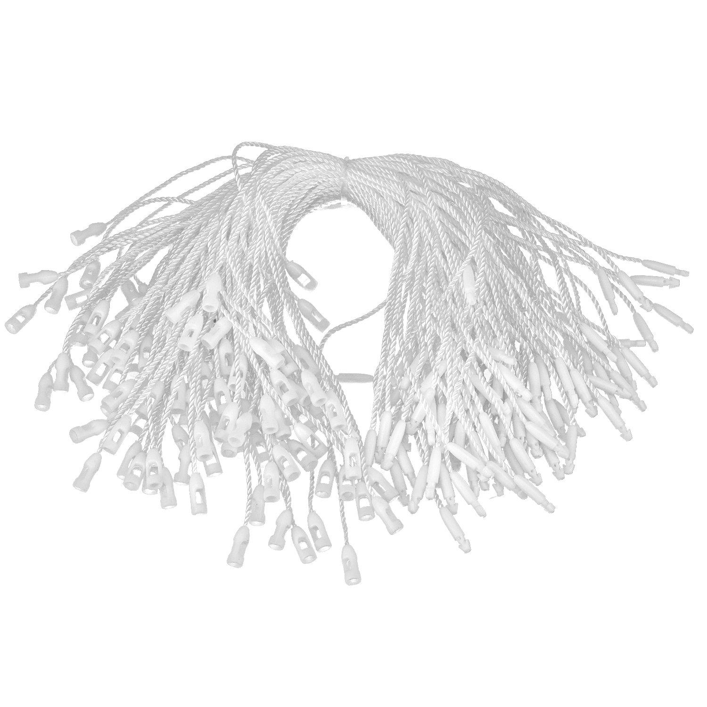 17,8/cm White wei/ß Nylonband f/ür Etiketten/ Trimming Shop Etikettband Schwarz oder Wei/ß /Schnappverschluss zum Anbringen von Sichterheitsetiketten und Schildchen 500pcs