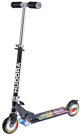 Hudora 14595 Scooter L120 - Patinete plegable con luz ...