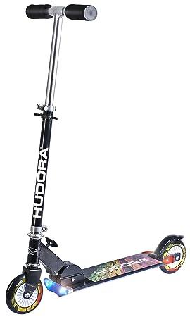 Hudora 14595 Scooter L120 - Patinete Plegable con luz [Importado de Alemania]