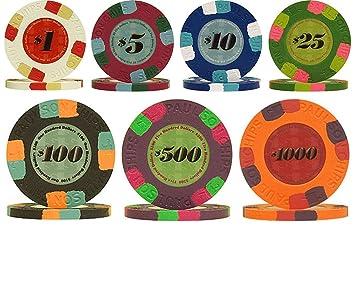 Genuine Paulson Full Clay 10g Poker Chip Sample Set - 7 New Chips ...