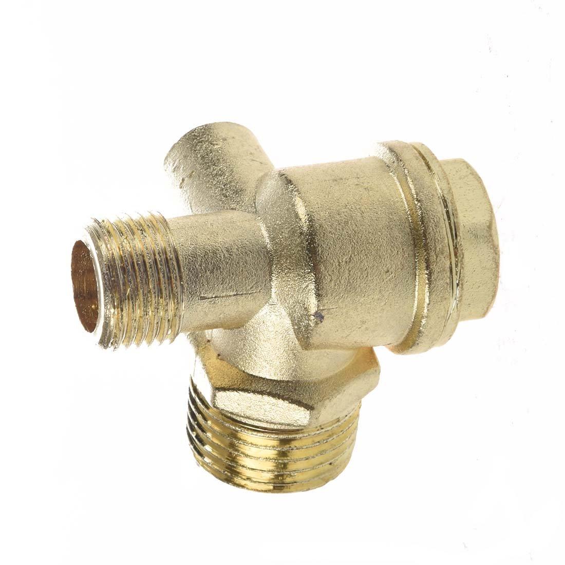Toolmore Valvula de Retencion para Compresor de Aire Conector de Tubo 3//8 Rosca Hembra Dorado