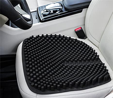 Grullin Gel Car Seat Cushion Silicone Massage Office Chair Pad Waterproof Non Slip Comfort Auto Seat Pad