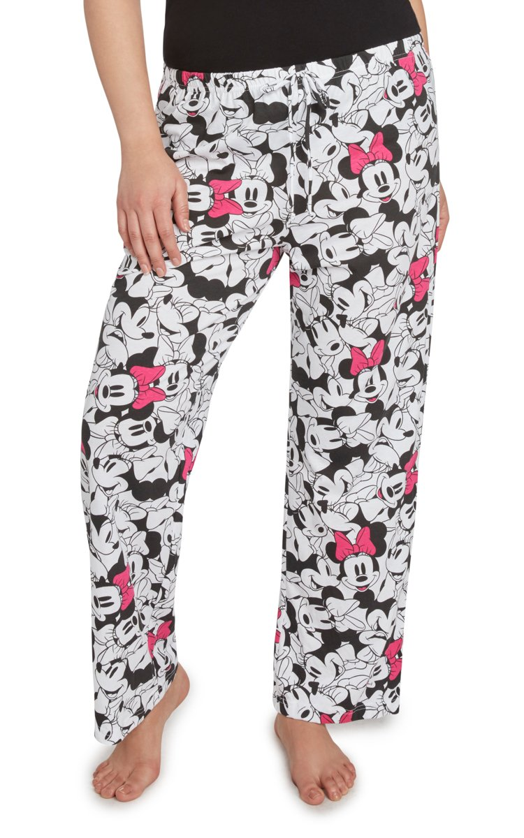 Disney Womens Plus Size Pajama Pants Minnie Mouse All Over Print PJs Lounge (1X)