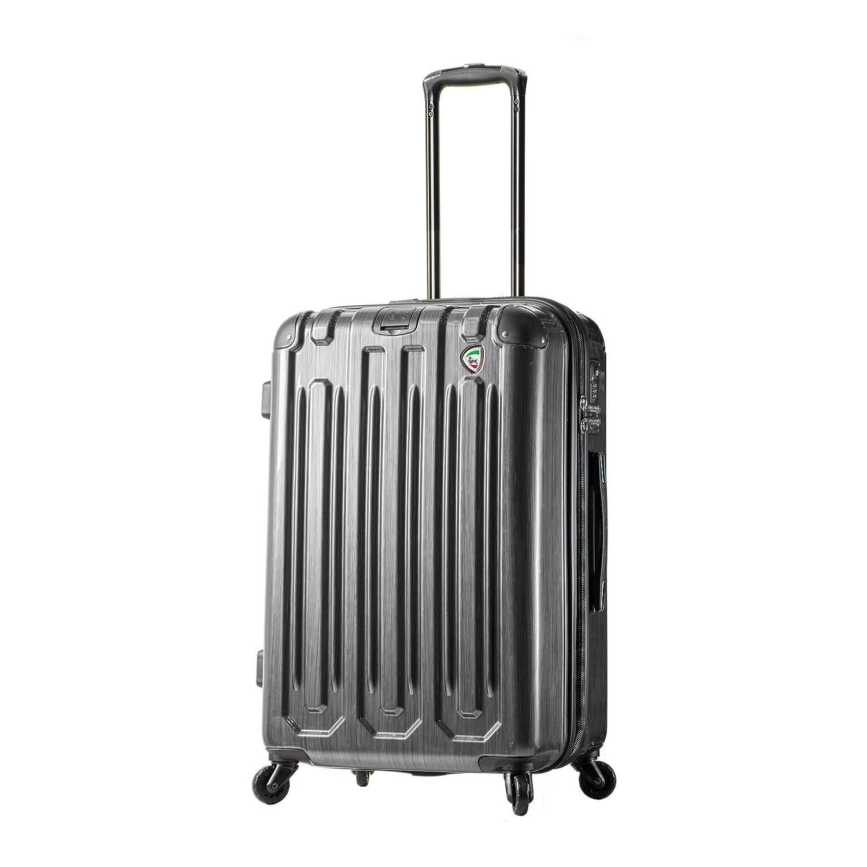 e0585391d175 new Mia Toro Italy Lustro Hardside 28 Inch Spinner Luggage, Silver ...