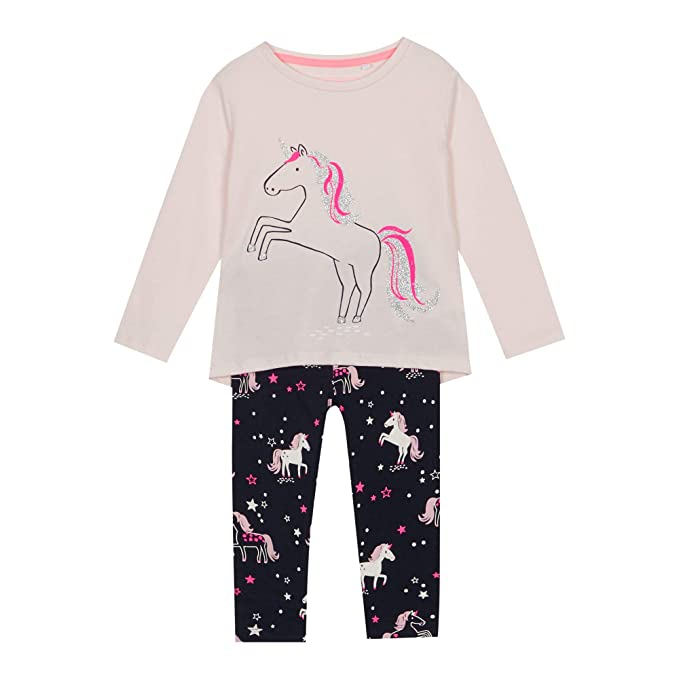 a8e52edd714f bluezoo Kids Girls  Multicoloured Unicorn Print Pyjama Set 18-24 ...