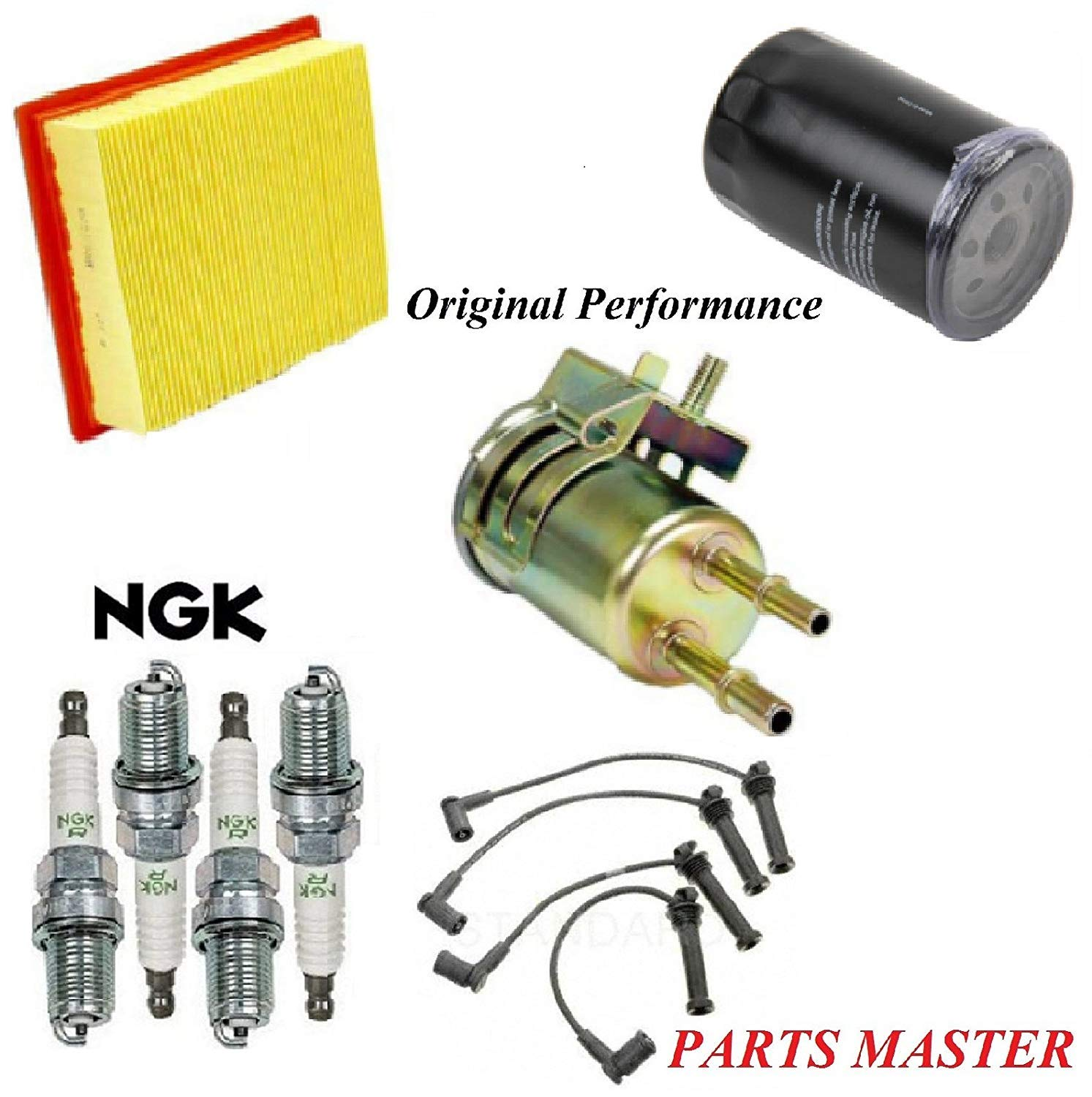 Tune Up Kit Air Oil Fuel Filters Wire Spark Plug FIT FORD RANGER L4 2.3L 2002