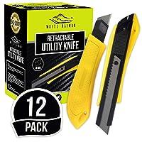White Kaiman 12 Pack Utility Knife Deals