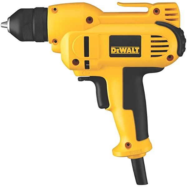 Best Corded Drill: DEWALT DWD115K VSR Mid-Handle Grip Drill Kit