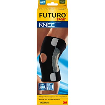 55f7f74b26 Image Unavailable. Image not available for. Color: Futuro Sport Adjustable  Knee Stabilizer