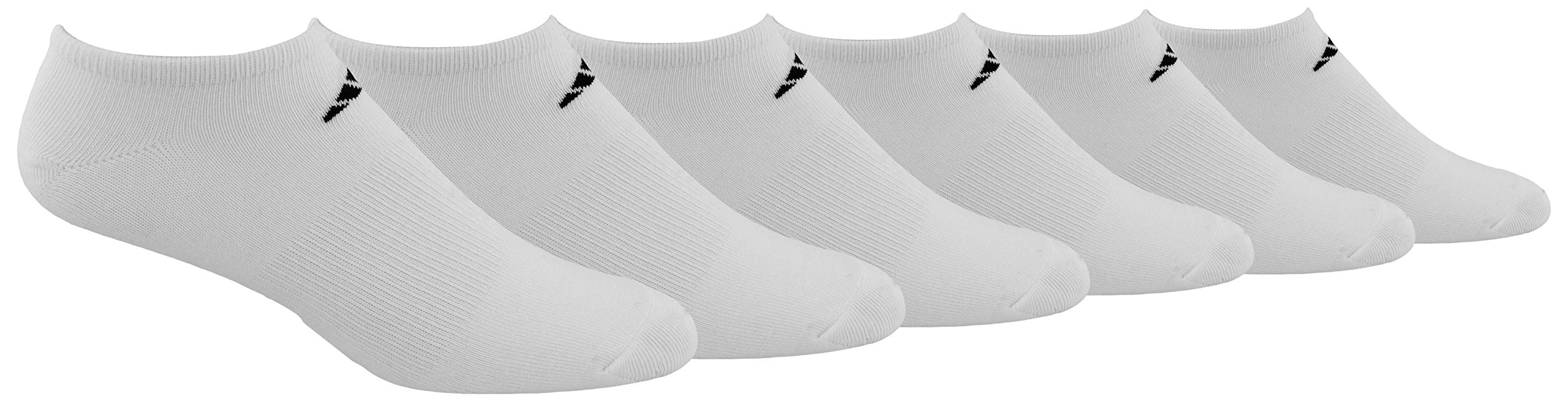 adidas Men's Superlite Low Cut Socks with arch compression (6-Pair),White/ Black,XL, (Shoe Size 12-15) by adidas