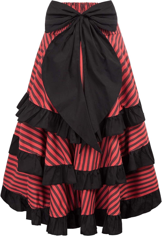 Belle Poque Steampunk Gothic Victorian High Low Bustle Skirt