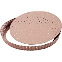 New WILTSHIRE Non Stick Rose Gold Perforated Round Quiche PAN 23cm