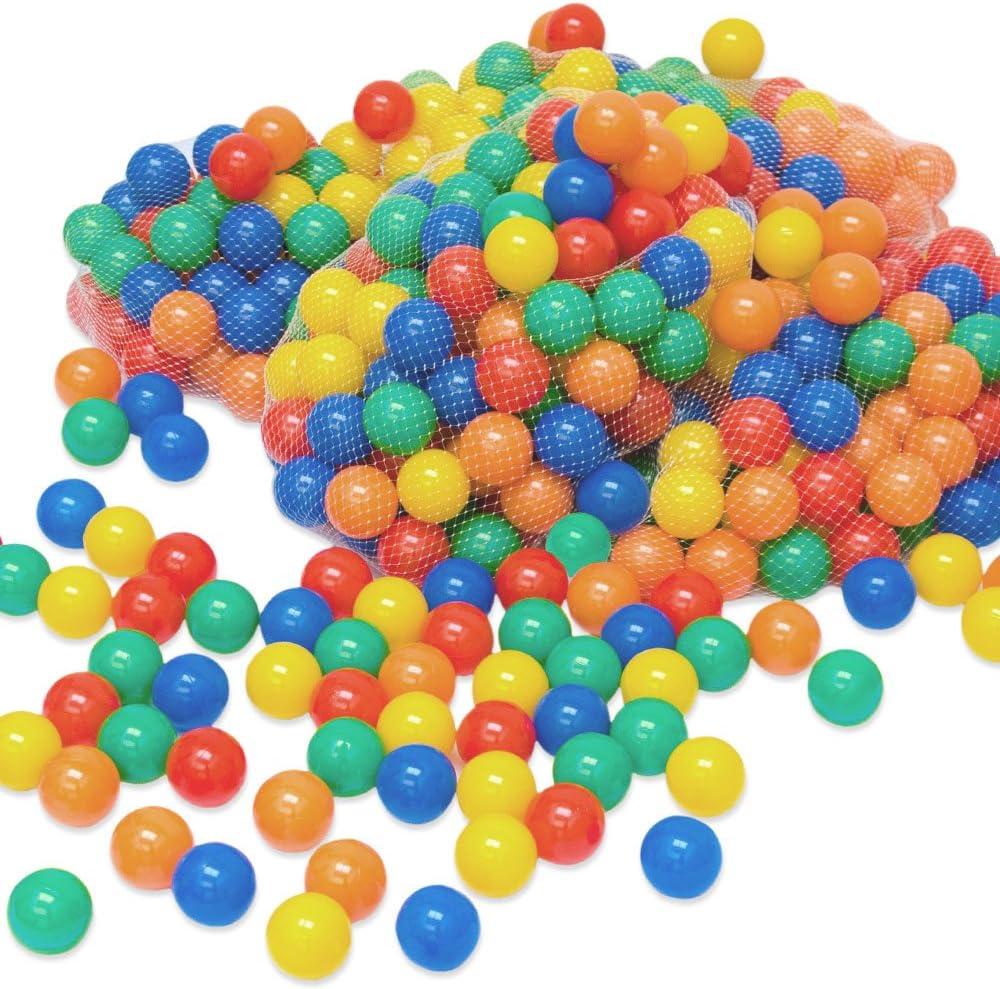 LittleTom 6000 Bolas de Color Ø6cm Piscinas de niño Mezcla de 5 Colores