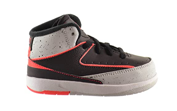 Amazon.com | Jordan 2 Retro (BT) Baby Toddlers Shoes Black/Infrared-Pure  Platinum-White 395720-023 (6.5 M US) | Sneakers