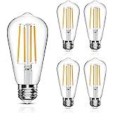 Vintage LED Edison Bulb, 6W, Equivalent 60W, Soft White 2700k, Non-Dimmable Led Filament Light Bulb, E26 Base, High CRI 95+ E