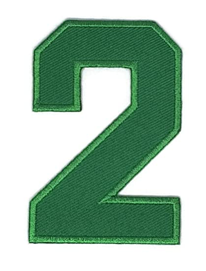 Amazon 2 X 3 Inches Green The Second Numbers Patch Sew Iron On