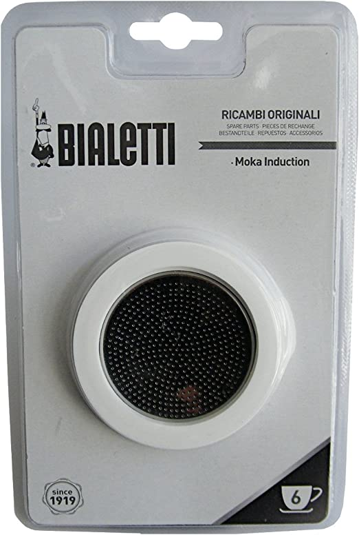Bialetti 3 Gaskets 1 Filter Plate for Moka Induction 3 Cup