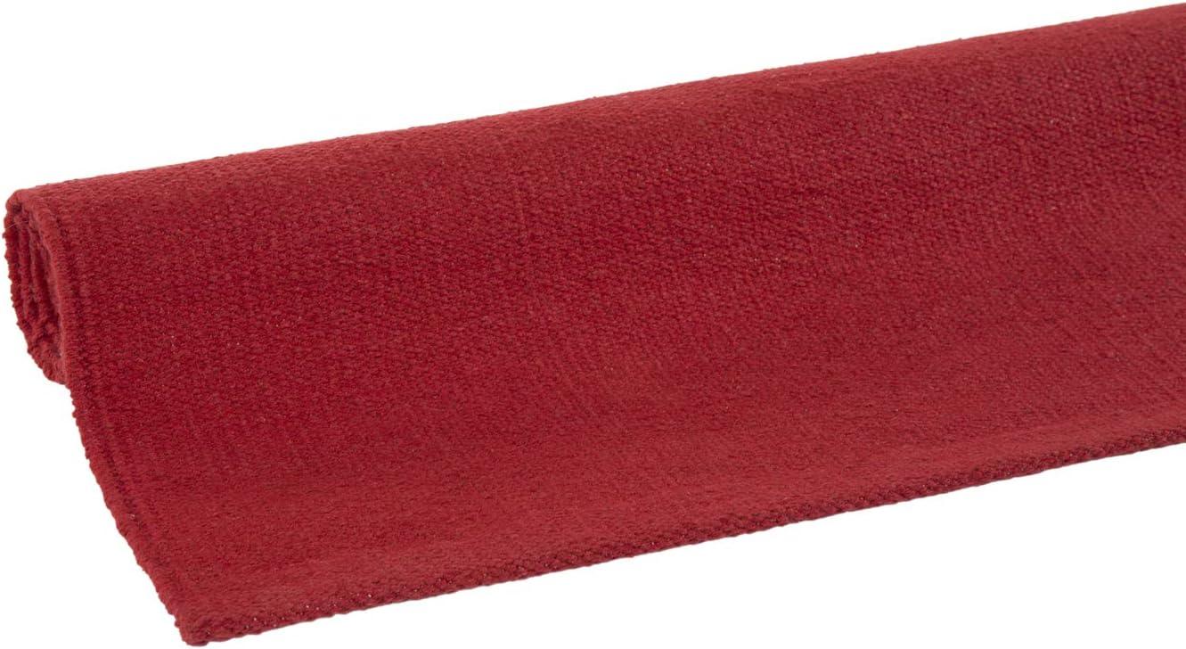 Andiamo Tappeto Milo fatto a mano crema facile da pulire e lavabile in 100/% cotone 60x120cm tinta unita cotone