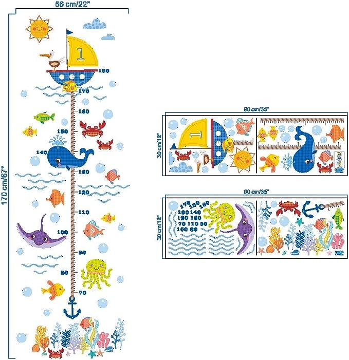 Tabla de crecimiento para ni/ños tabla de medici/ón de altura tabla de medida de altura extra/íble para ni/ños peque/ños, regla de pared