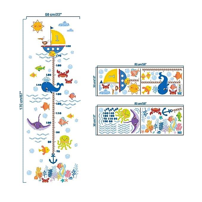 decoraci/ón de habitaci/ón tabla de medici/ón de altura tabla de medidas extra/íble para pared tabla de altura de crecimiento Horolas Tabla de crecimiento para ni/ños