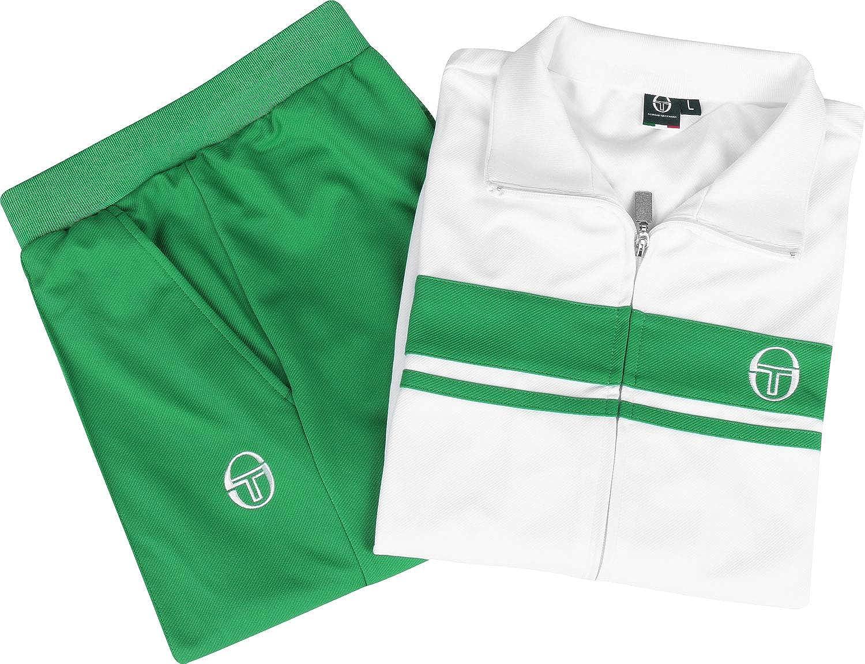 Sergio Tacchini Young Line Chándal bean green/white: Amazon.es ...