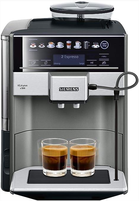 Siemens TE655203RW Independiente Totalmente automática Máquina espresso 1.7L Negro cafetera eléctrica: Amazon.es: Hogar