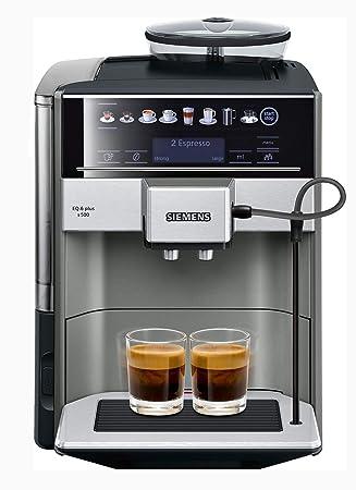 Siemens TE655203RW - Cafetera (Independiente, Máquina espresso, 1,7 L, Molinillo integrado, 1500 W, Negro, Gris, Plata): Amazon.es: Hogar