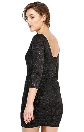991be05c6f9cb Ex Topshop Black Sparkly Glitter Shiny Sexy Party Mini Dress Size 6 8 10 12  14  Amazon.co.uk  Clothing
