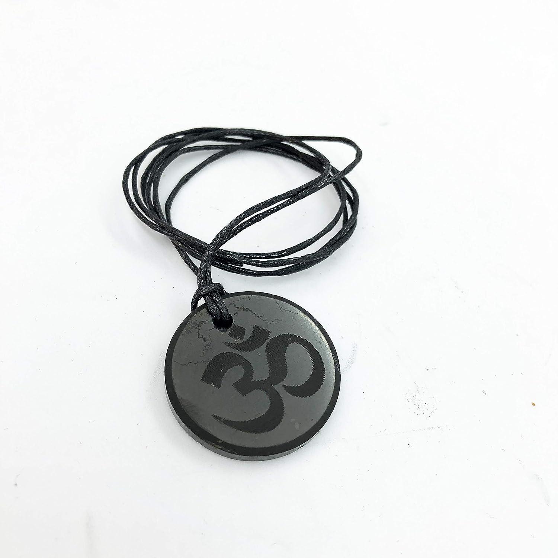 Shungite Colgante Infinity Collar protecci/ón EMF piedra aut/éntica de Rusia Shungite Jewelry