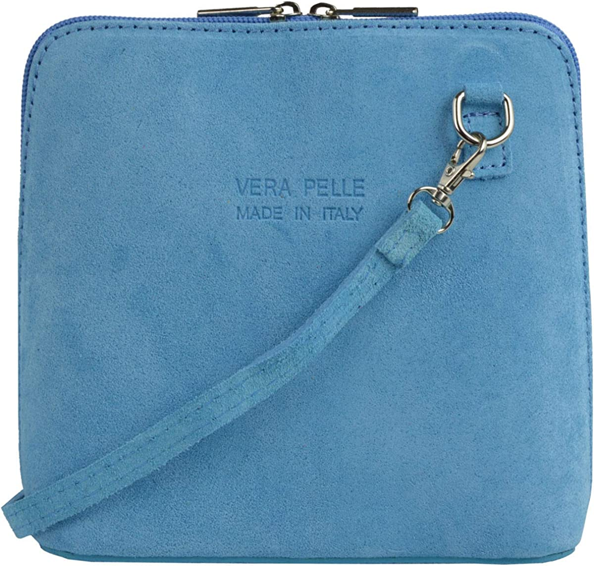 Small Shoulder Bag in 18 Colors Womens Italian Suede Leather Cross Body Handbag