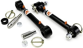 Front Swaybar Quicker Disconnect System Adjustable Fits Jeep Wrangler JK JKU 2007-2018 Replace 2034 With 2.5-6 Lift Not for Original Sway Bars