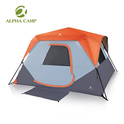 ALPHA CAMP 6 Person Instant Cabin Tent Camping/Traveling Family Tent  Lightweight Rainfly With Mud