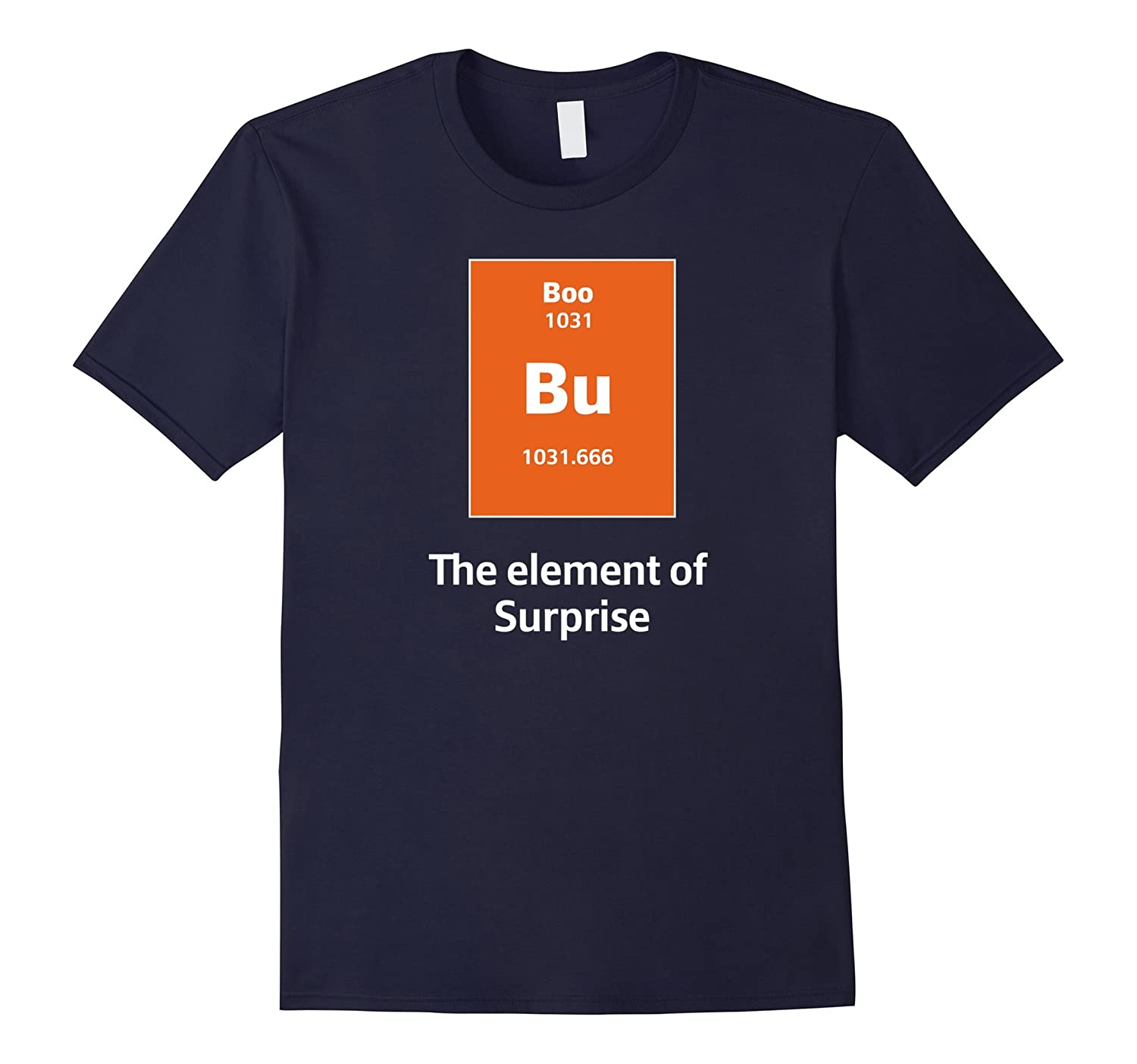 Boo Bu The Element Of Surprise Science Halloween Costume Tee