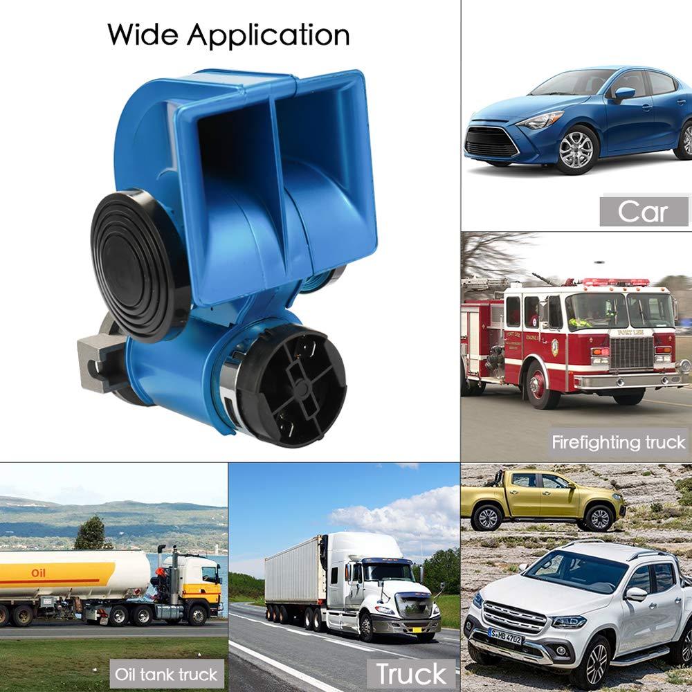 KKmoon LKW Hupe Twin Doppel Ton Compact Air Laute Horn 12 V 150dB f/ür Auto Kompressor LKW Bus Van