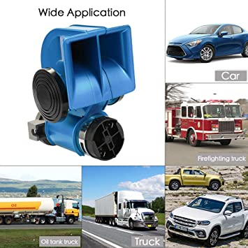 Van Horn Auto >> Amazon Com Multi Tone Claxon Horns Auto Twin Dual Tone