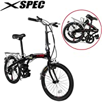 "Xspec 20"" 7 Speed City Folding Compact Bike Bicycle Urban Commuter Shimano"