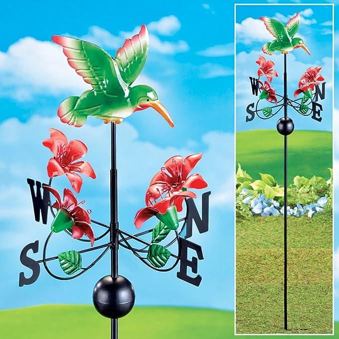 Colibrí y flores forma de gallo juego, Verde: Amazon.es: Jardín