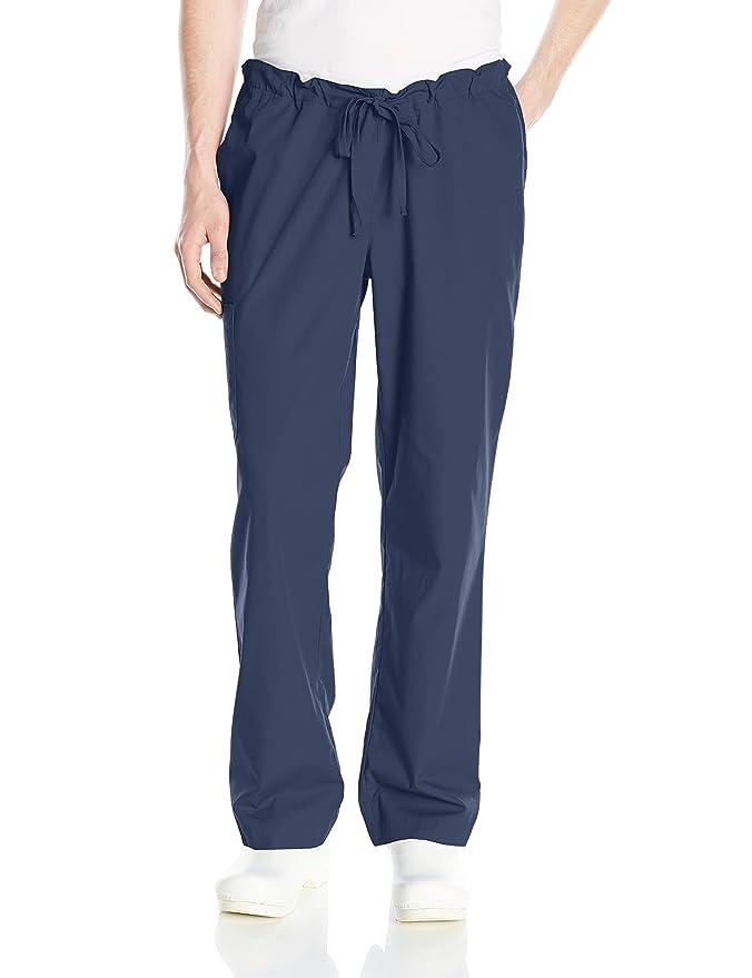 Pantalón medico unisex Huntington ultra cómodo con cordón en la cintura - Colores-Blanco/Gris/Azul- Profesiones-Dentista/Enfermera/Veterinario/ Medico/ ...
