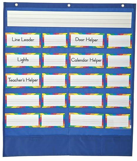 Amazon com carson dellosa classroom helpers pocket chart 158037