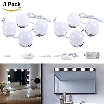 LED Spiegelleuchte Schminktisch Leuchte Spiegellicht Set 8 Glühbirne ...
