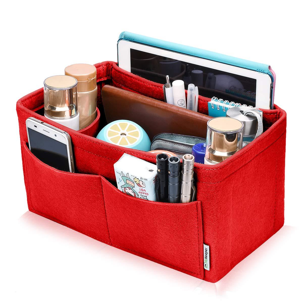 Felt Insert Bag Organizer Bag In Bag For Handbag Purse Tote Diaper Bag, Fits Speedy Neverfull, 4 Sizes, 6 Colors