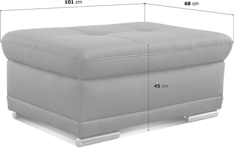 Gepolsterter Hocker als Sitzhocker 100 x 43 x 67 Cavadore Polsterhocker Aniamo Beistellhocker oder Fu/ßbank Hellblau