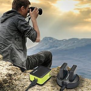 CARGADOR DUAL USB NEWMOWA PARA NIKON EN-EL14, EN-EL14a y Nikon P7000, P7100, P7700, P7800, D3100, D3200, D3300, D5100, D5200, D5300, Df
