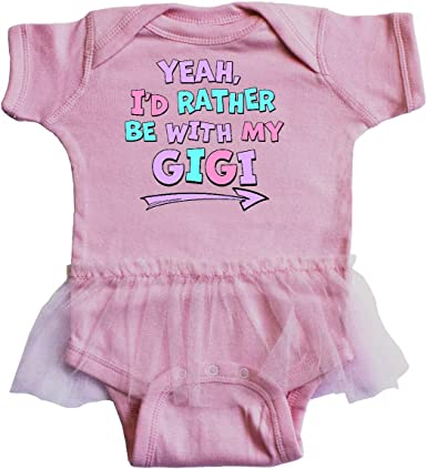 Inktastic Yeah Id Rather Be with My Grandad in Pink Blue Infant Tutu Bodysuit