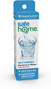 Safe Home DIY BACTERIA in Drinking Water Test Kit – Backed by the Good Housekeeping Institute – Detects 50 Different Species of Bacteria as Fast as 24-hours – Level of Detection (1CFU) – Single Pack