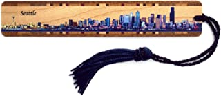 product image for Seattle, Washington Skyline - Color Wooden Bookmark with Tassel - Also Available Personalized