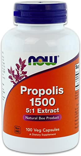 Now Foods Propolis 1500 mg 100 capsules Pack of 4