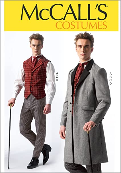 Amazon.com: McCall's Costumes Men's Historical Suit Costume Sewing ...