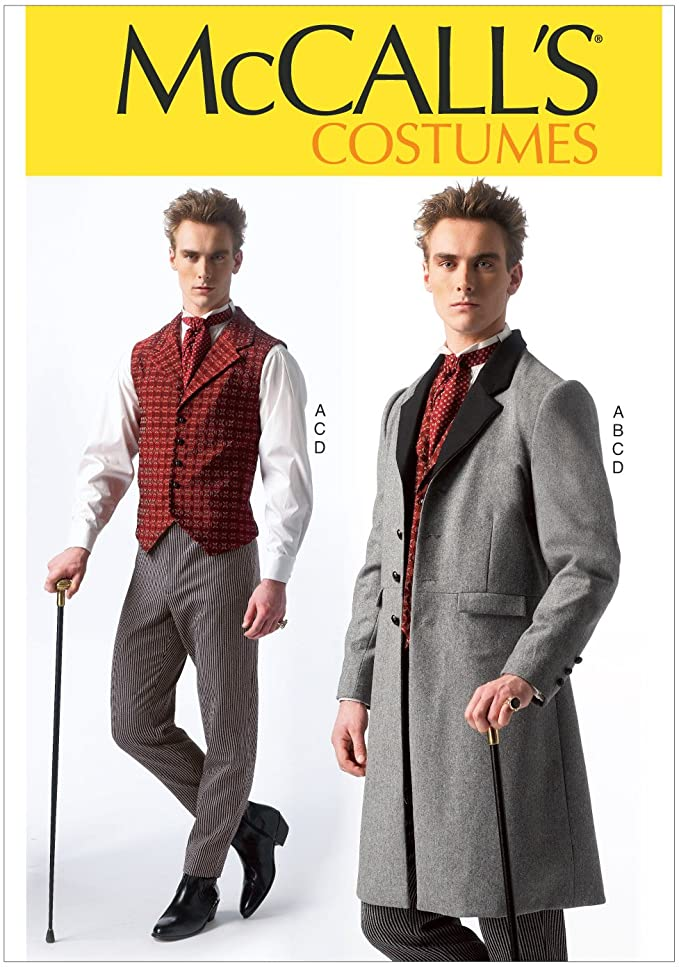 Victorian Men's Clothing, Fashion – 1840 to 1890s Frock Coat vest Mens Costumes Size MEN (Small (34-36) Medium (38-40) Large (42-44) X-Large (46-48) XX-Large (50-52)) $8.65 AT vintagedancer.com