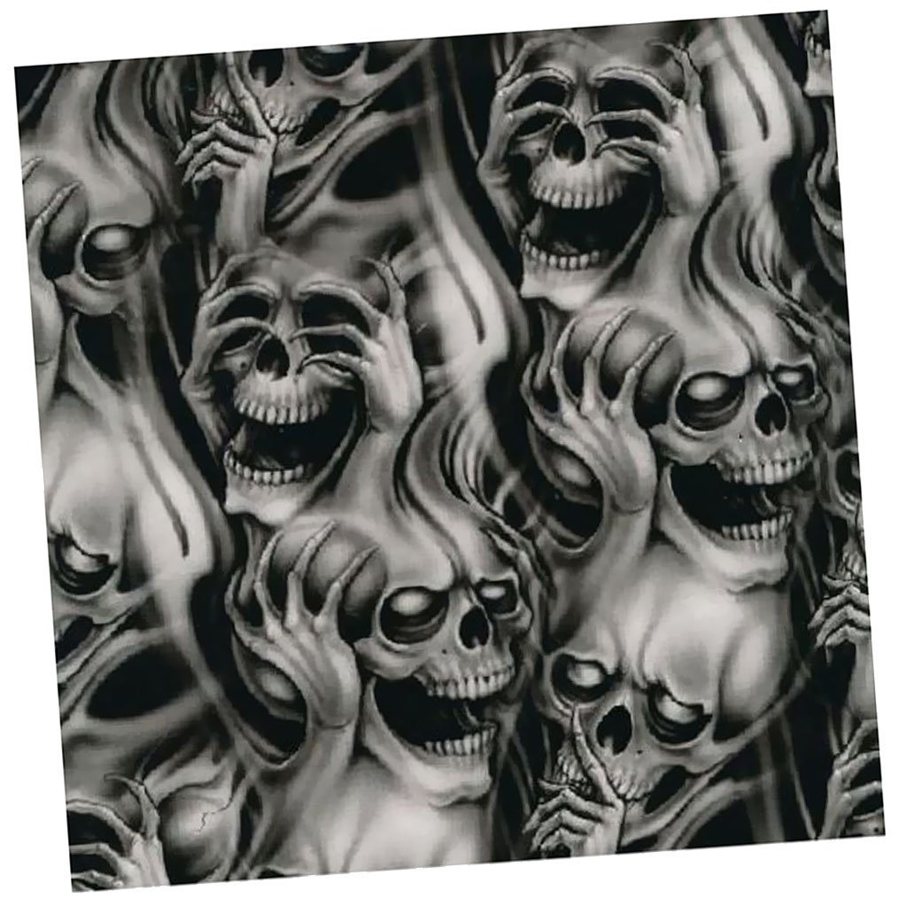 MagiDeal Water Transfer Print Large Skull Film Plastic Dipping Hydrographics #1
